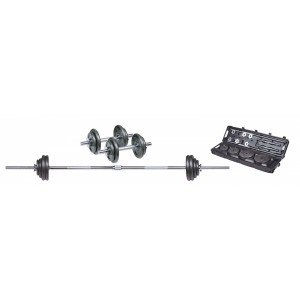 50 KG BLACK BARBELL SET
